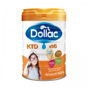 Sữa bột tăng trưởng cho bé Dollac Kid 456 900g