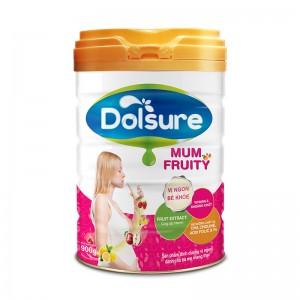 Sữa bột dinh dưỡng cho mẹ Dolsure Mum Fruity 900g