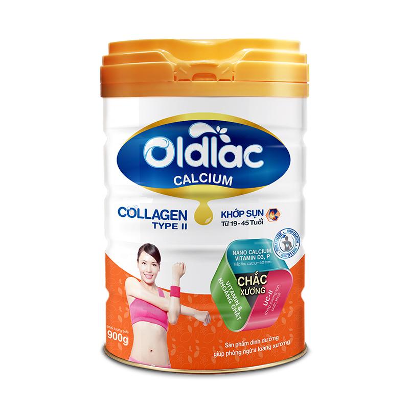 Sữa bột chức năng phòng ngừa loãng xương Oldlac Calcium Collagen Type II 19-45 900g